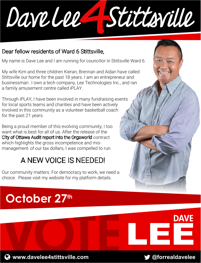 Dave Lee for Stittsville!